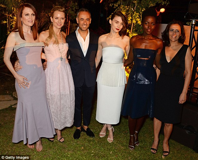 What a line-up! Julianne was joined by Naomi Watts, Francisco Costa, Women's Creative Director of Calvin Klein Collection, Rooney Mara, Lupita Nyong'o and Joana Vicente, Executive Director of the IFP at the bash