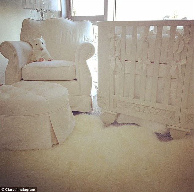 Fit for her little prince: Ciara showed there was a new new stylish mom on the block, debuting her stunning nursery on Instagram on Tuesday