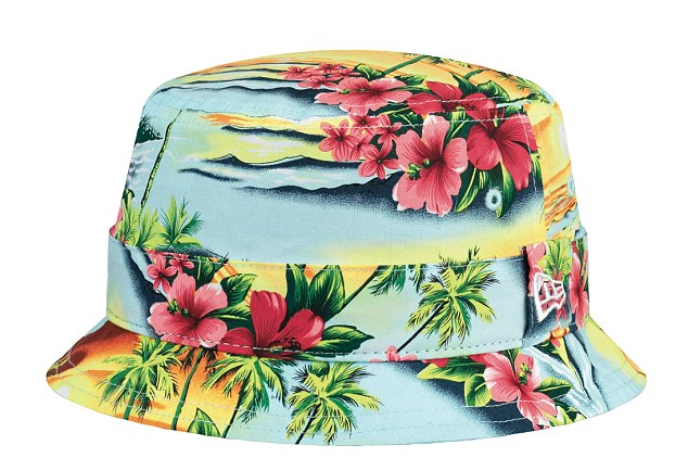 Tropical print: The New Era Island Bucket Cap is from the Island Pack collection which explores a seasonal theme, featuring a modern twist on the classic Hawaiian tropical print. The caps are £30 from ASOS and neweracap.eu