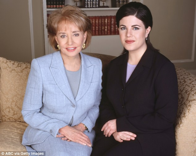 Confidante: Barbara Walters' exclusive interview with Monica Lewinsky, whose explicit sexual affair with then-president Bill Clinton resulted in his impeachment, was seen by a record breaking 74million people