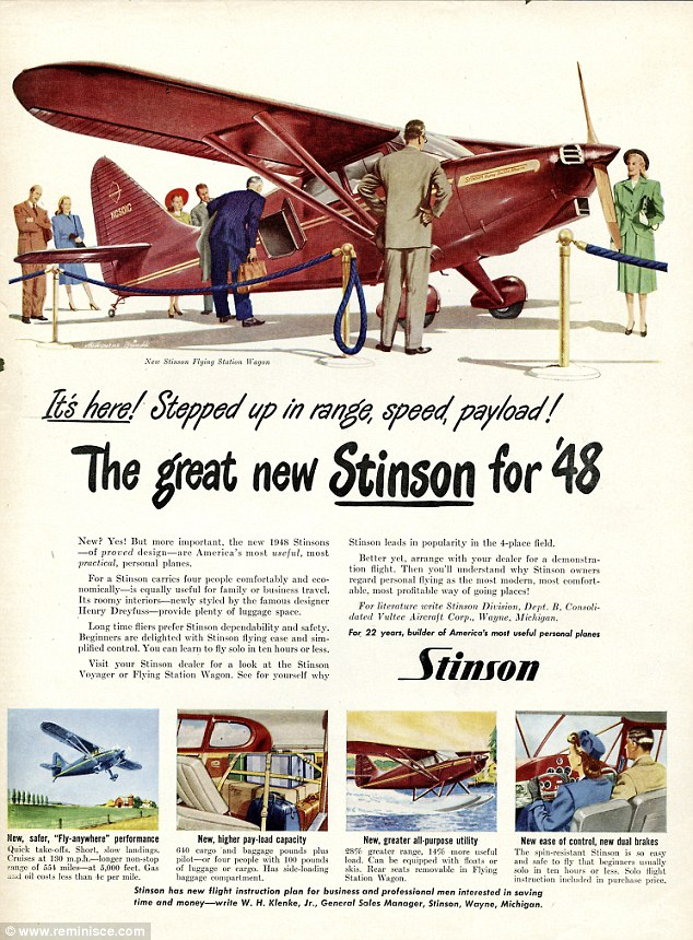 Fancy a new plane? Stinson advertises its new jet in 1947