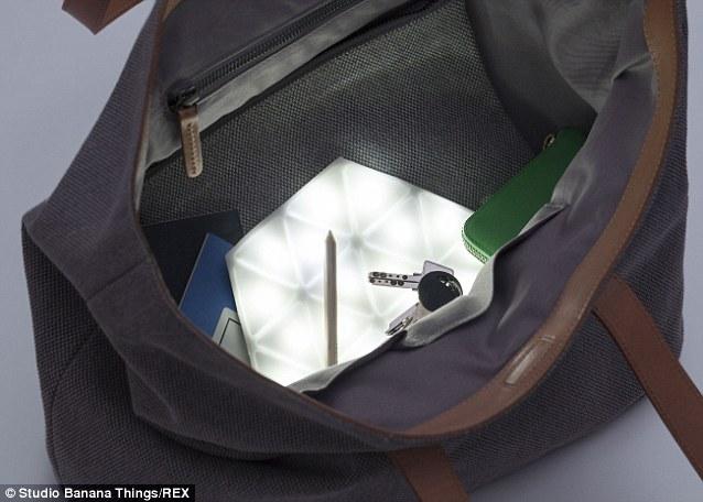 The Kangaroo Light is designed to sit at the bottom of your handbag, lighting up those pesky runaway items like keys