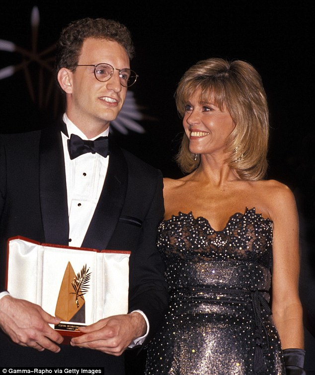 Rolling back the years: Fonda and American director Steven Soderbergh in 1989 when they were awarded with the Golden Palm for Sex, Lies and Videotape