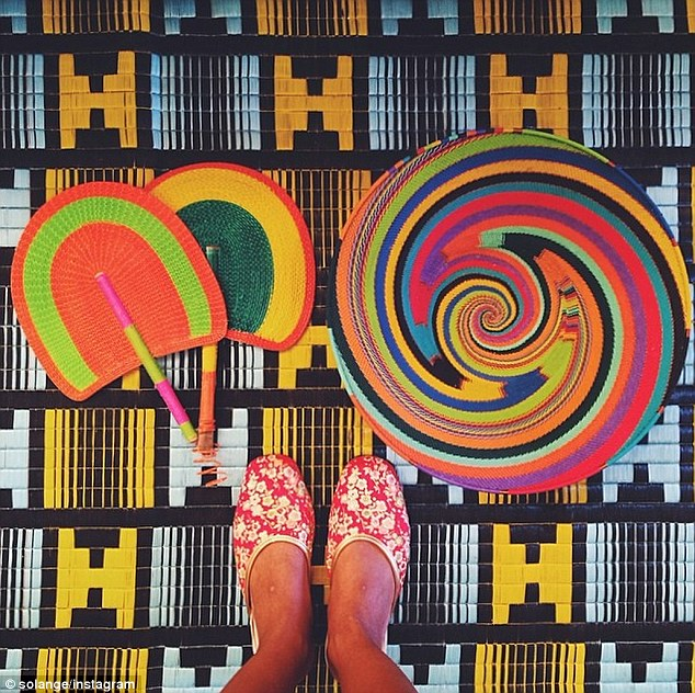 Insta-magic: Solange posted a snap that same day of a some psychedelic designs