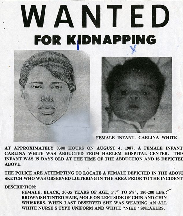 Police hunt: A wanted poster for Ann Pettway issued shortly after the kidnapping