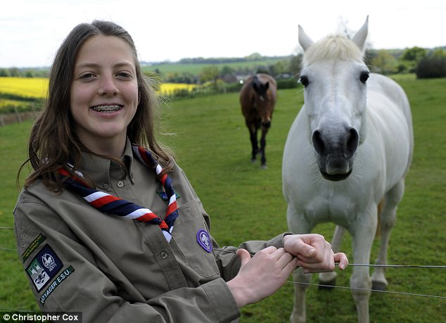 Gift horse: Sophia Walne is raising money for a Scout charity