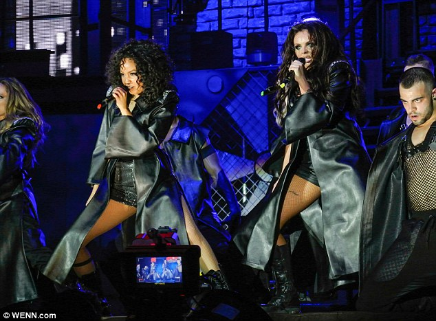 Move: The girls oozed confidence as they embarked on their first headline UK arena tour