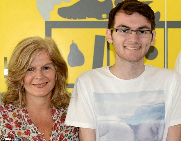 Stephen Sutton, who died from cancer this week, pictured with his mother Jane