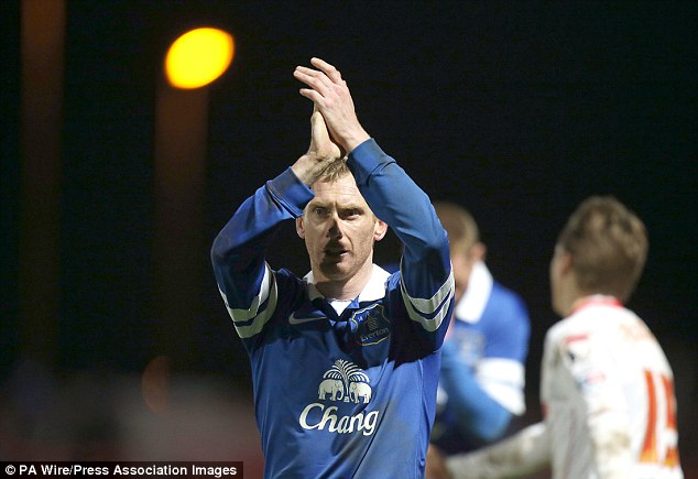 Sticking with Tofffees? Tony Hibbert is nervously waiting to see if he's offered a new deal at Everton