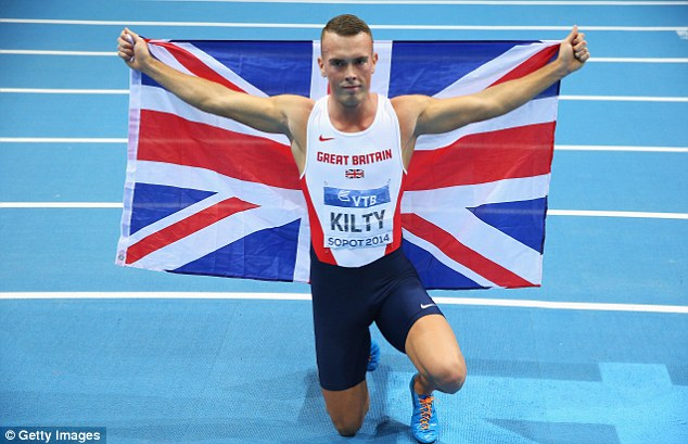 Tension: World indoor champion Richard Kilty revealed the extent of the friction