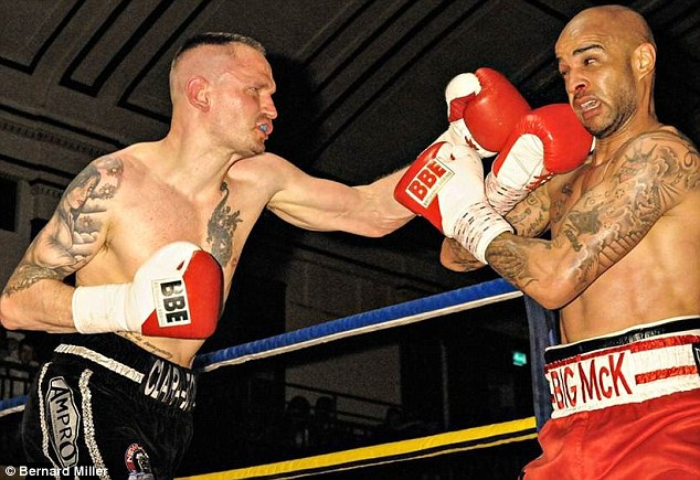 Poor record: Brown fights back bravely but has only won one of his last ten bouts