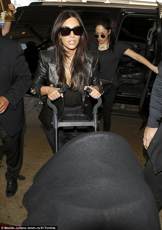 And it begins: Kim Kardashian and baby North flew out from Los Angeles, California, on Saturday