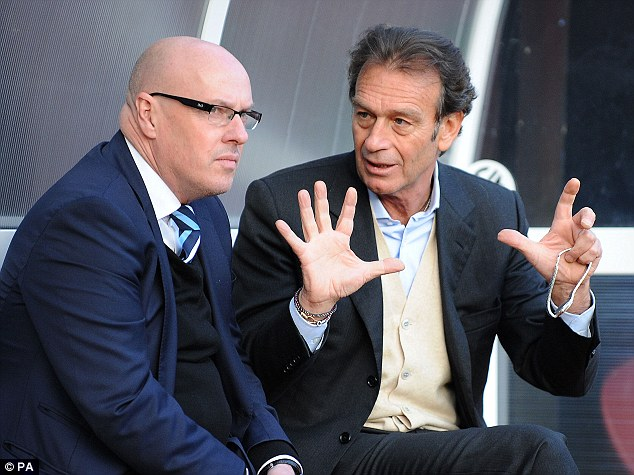 Hands full: Massimo Cellino (right) is investigating the financial chaos at Leeds