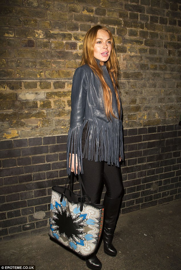 On the fringe: The 27-year-old starlet made her way to two events in London on Wednesday