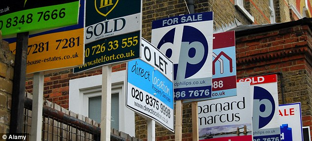 Booming: House prices across most parts of the UK have been rising sharply as demand outstrips supply.