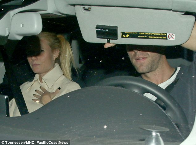 Date night: Chris and Gwyneth Paltrow enjoyed a dinner date together at the Chateau Marmont in West Hollywood on Saturday night