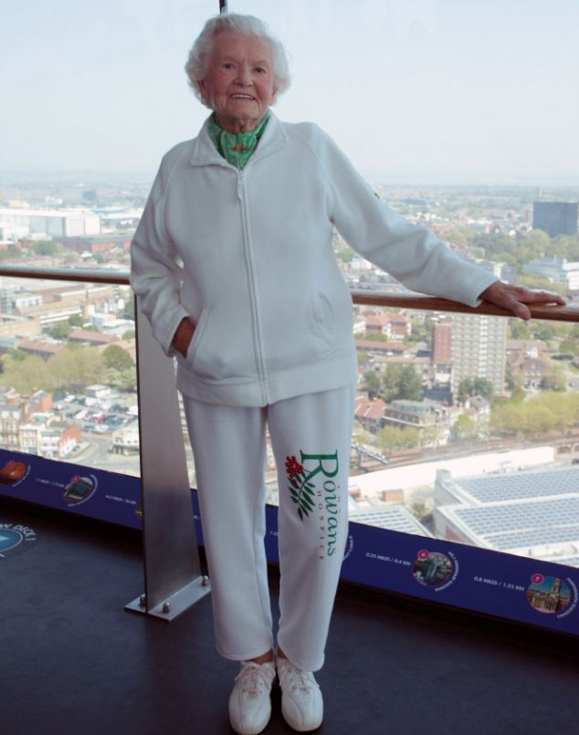 Speaking at the top of the tower, Mrs Long said she hopes that this will not be her last adventure