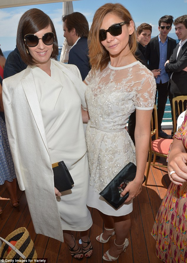 Coordinated: The 38-year-old shared a photo with  Princess of Venice and Piedmont, Clotilde Courau, who dazzled in a sequinned sheer number