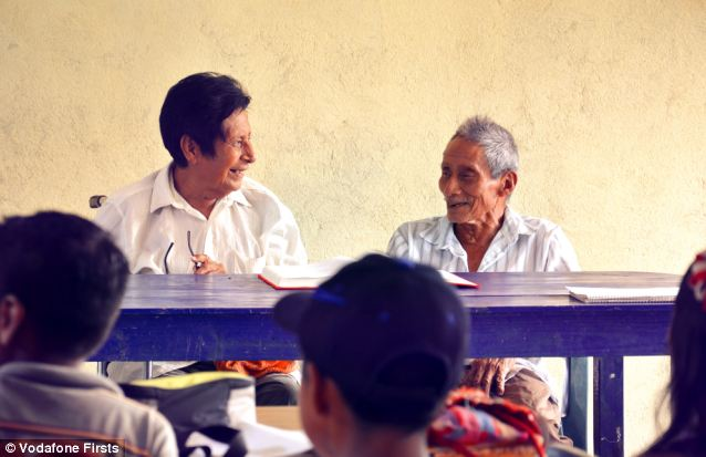 Having been enemies for years Manuel Segovia (left) and Isidro Velazquez have put their enmity to one side to save their native language