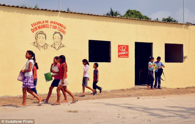 Vodafone also helped the locals to build a school where children could be taught their native language and even named it Ayapa: Manuel and Isidro's School of Ayapaneco