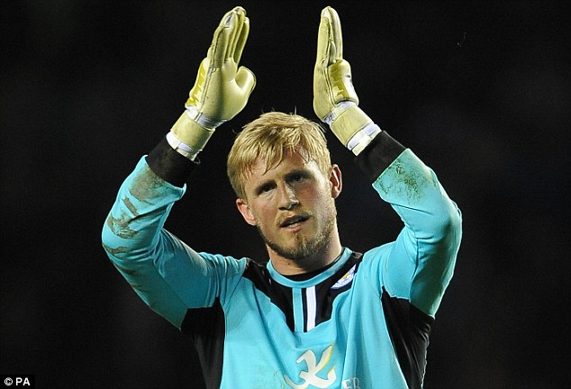 Committed: Goalkeeper Kasper Schmeichel has agreed a new four-year contract with Leicester City
