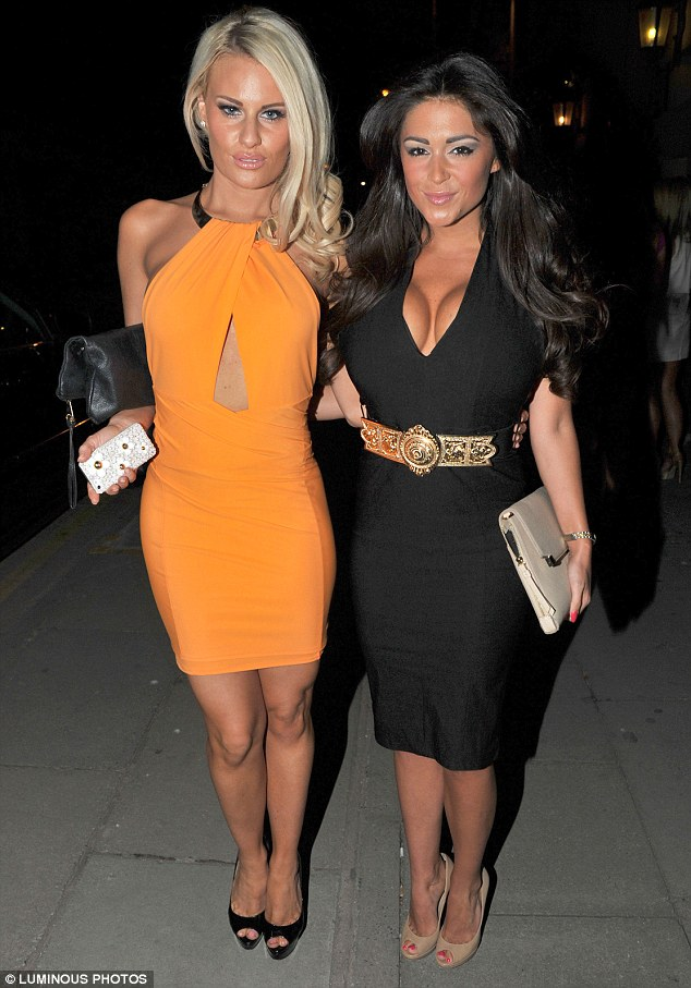 Scouse nights: Casey Batchelor and Danielle Armstrong go out in Liverpool in figure hugging dresses