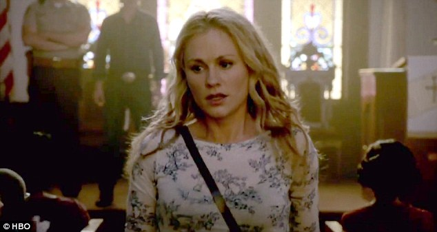 They all blame me: Sookie Stackhouse (Anna Paquin) tries her best to defend her home town of Bon Temps from Hep V infected vampires in the new season seven trailer