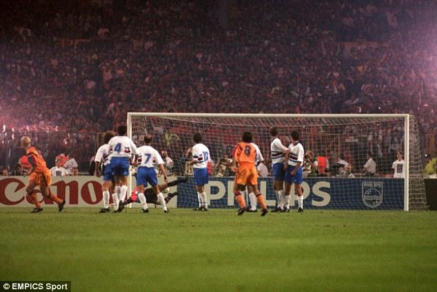 Hero: Ronald Koeman scored the winner for Barcelona against Sampdoria in the 1992 European Cup final