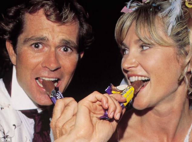 When TV presenter Anthea Turner and Grant Bovey were pictured eating Cadbury's Flake bars at their 2000 wedding to thank a sponsor it did lasting damage to her career