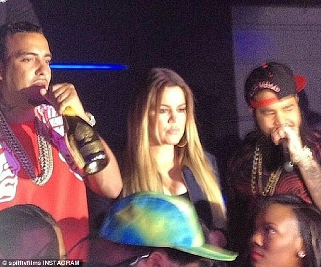 Partying it up: Saturday night, Khloe and French celebrated their friend Spiff TV's birthday bash at Vain Orlando nightclub