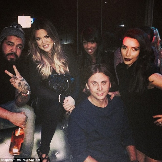 Keeping Up With The Kardashians: Spiff TV Instagrammed this image on Wednesday, writing, 'Pre Bday Turn Up Last Night In L.A Get Ready For This Sat In Orlando Club Vain... #spifftv #kuwtk'