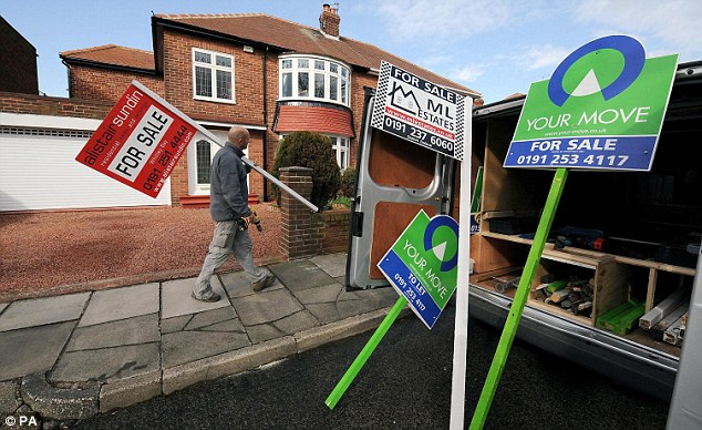 Sale signs: House prices have been increasing in recent months, making it harder to get on the property ladder