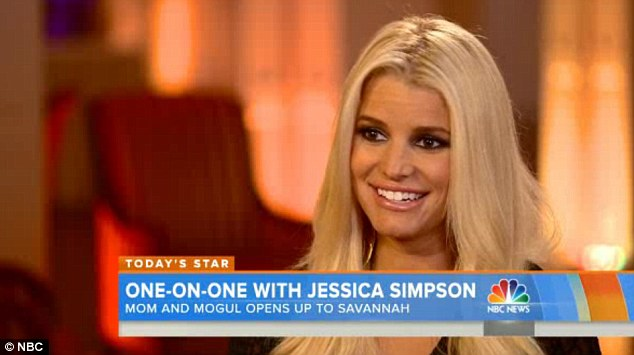 Many talents: Jessica Simpson appeared on the Today Show on Monday to talk about her projects