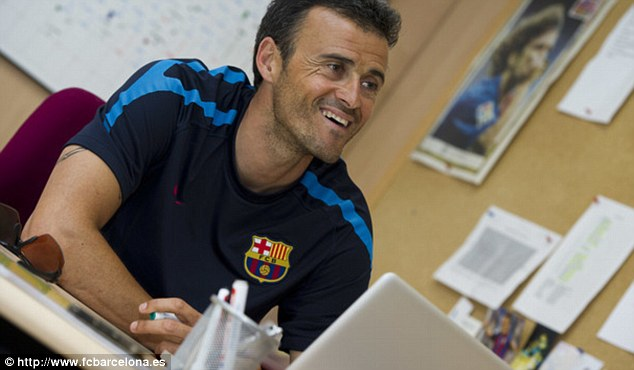 Taking charge: New Barcelona boss Luis Enrique, here pictured during his  stint as B team coach