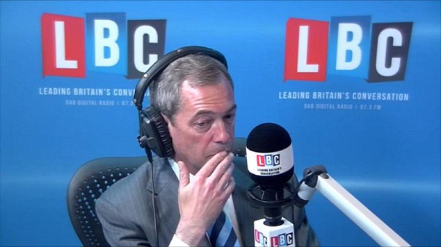 Ukip leader Nigel Farage, who sparked controversy with comments about Romanians during an interview on LBC last week, was forced to abandon plans to visit Croydon