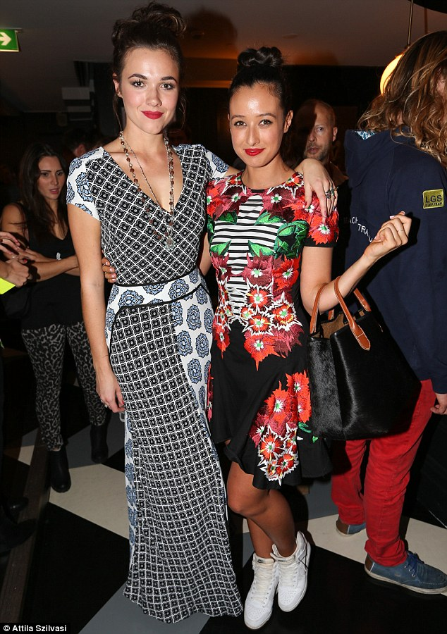 Fun times! Home And Away's Demi Harman and TV presenter Teigan Nash dressed up for the Tuesday bar opening