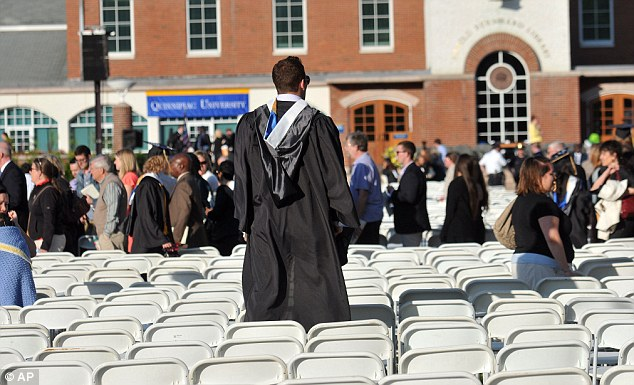 The ceremony had to be moved from the main campus to TD Bank Arena because of the threats. However, graduation proceeded as normal - just 90 minutes late