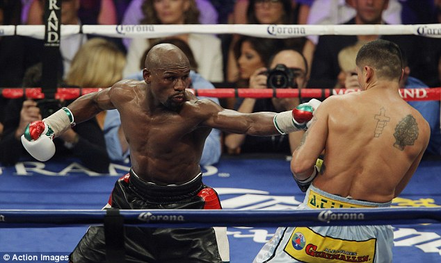Wealthy: 'Money' Mayweather received around £19m after his fight with Marcos Maidana