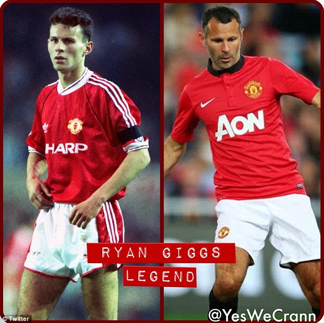 Man and boy: A side-by-side comparison of Giggs in his youthful and veteran days