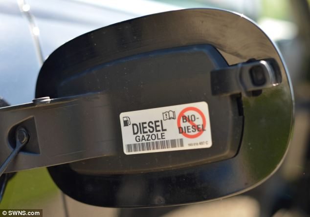 The fuel cap cover is clearly labelled with the correct type of fuel, but Mr Thompson say Porsche should fit the cars with a device that prevents users filling up with the wrong kind