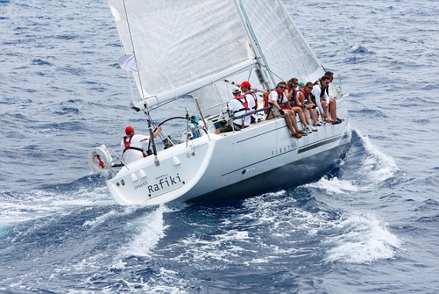 The Cheeki Rafiki, pictured during Antigua Sailing Week, before it ran into difficulties returning to the UK