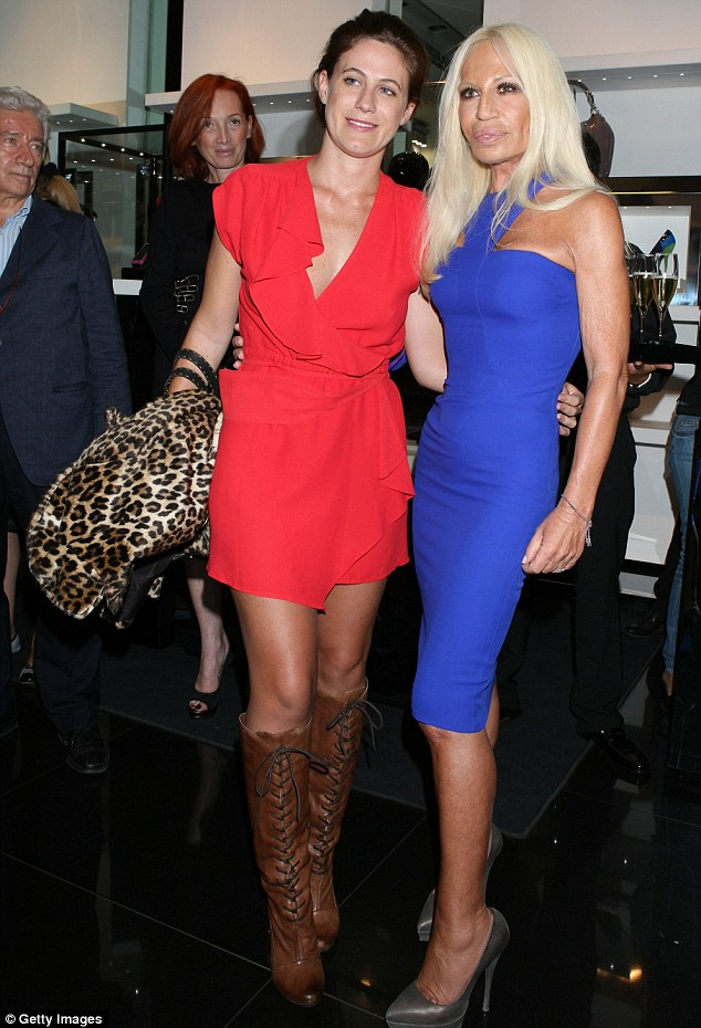 Upbringing: Francesca (pictured with Donatella in September 2010) was born and raised in Milan. She studied Fashion Design and Marketing at London's Central Saint Martins, graduating in 2006