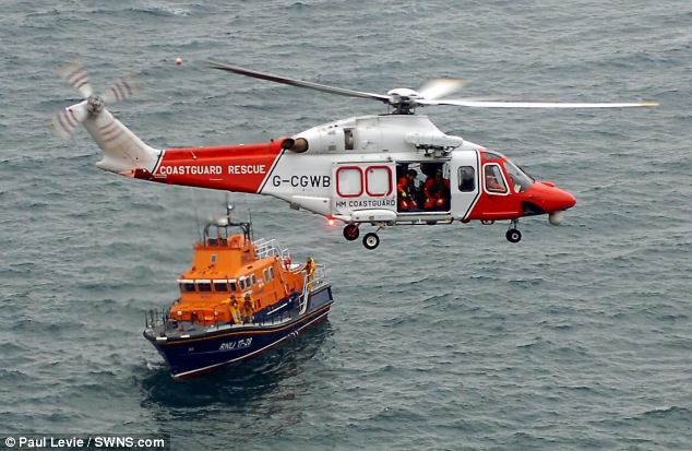 The remote site could not be reached by ambulance so coastguard had to scramble a helicopter