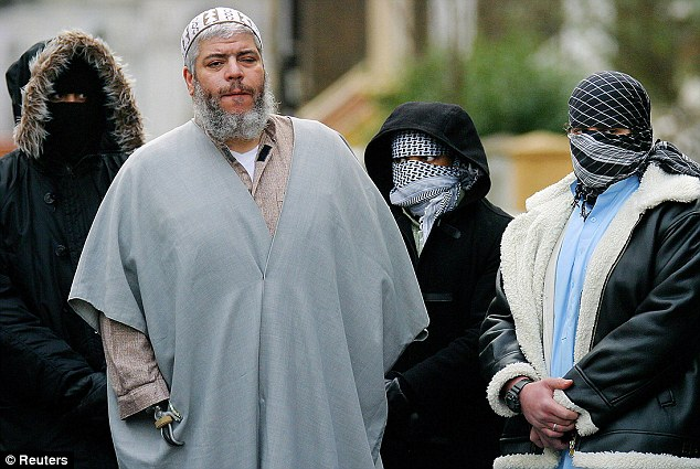 Guilty verdict: Hate preacher Abu Hamza, 56, who was extradited from the UK in 2012, was found guilty of terrorism offences in New York