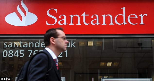 Cutting back: Santander is the latest to slash or abolish charges for transactions or direct debits made by someone in the red