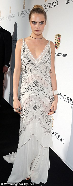 Elegant: Cara showed once again just why she is one of the most famous models in the world