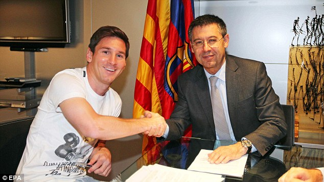 Talks: Enrique will speak with Lionel Messi after the World Cup, but has not ruled out signing a centre forward