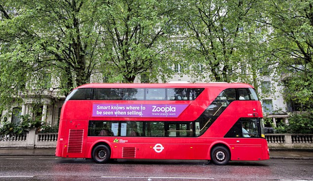 Driving advert: Buses usually have adverts on the side to make extra cash