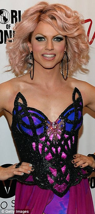 Turning heads: Courtney definitely attracted plenty of attention with the corset style finishing of the leotard and a pair of statement oversized hoop earings