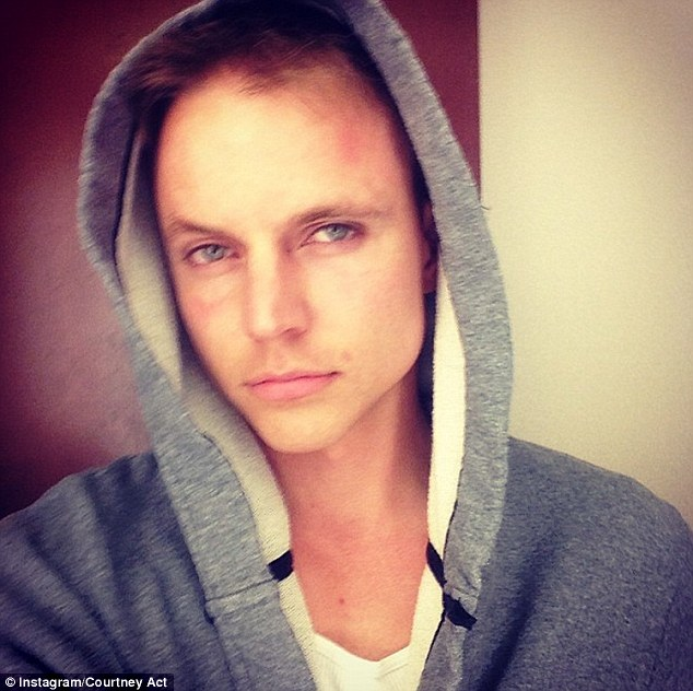 Real identity: The creator of drag queen Courtney Act is Brisbane-born singer Shane Jenek